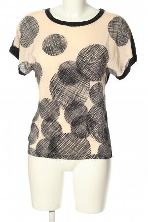 Strenesse Blouse Shirt black-cream allover print casual look