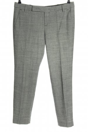 Strenesse Pleated Trousers light grey weave pattern business style