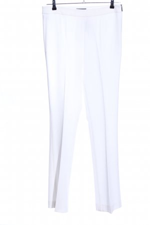 Strenesse Pantalón de pinza blanco estilo «business»