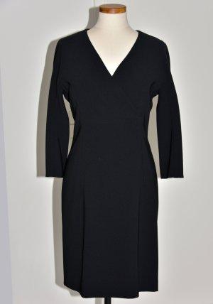 Strenesse Vestido de cóctel negro tejido mezclado