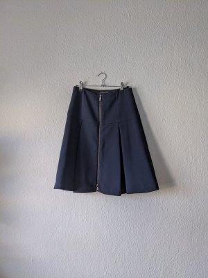 Strenesse Falda a cuadros azul oscuro
