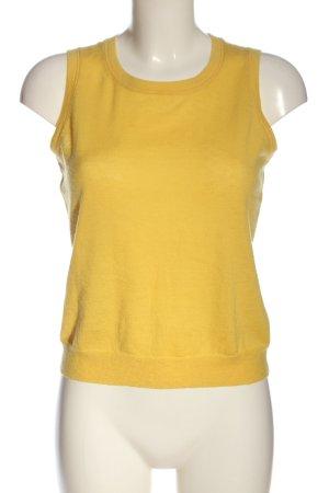 Strenesse Cárdigan de punto fino amarillo pálido elegante