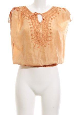 Strenesse Gabriele Strehle ärmellose Bluse hellorange Vintage-Look