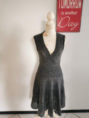 Strenesse Gabriele Strehle Designer Mohir Kleid Strickkleid Größe 34 (36 38)