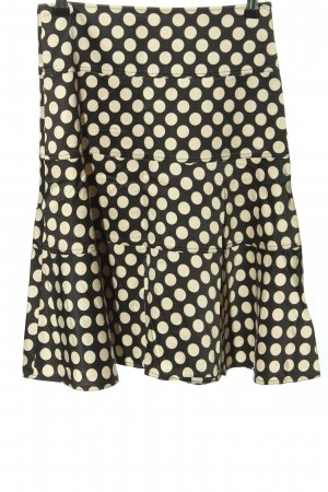 Strenesse Gabriele Strehle Godet Skirt black-cream spot pattern casual look