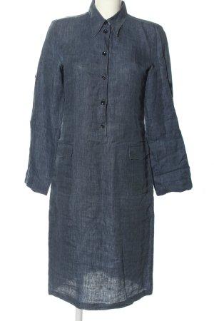 Strenesse Gabriele Strehle Hemdblusenkleid blau meliert Casual-Look