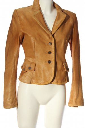 Strenesse Gabriele Strehle Leather Blazer brown casual look