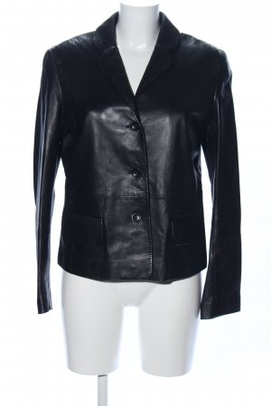 Strenesse Gabriele Strehle Leather Blazer black casual look
