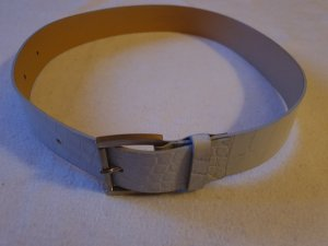 Strenesse Gabriele Strehle Cinturón de cuero gris claro