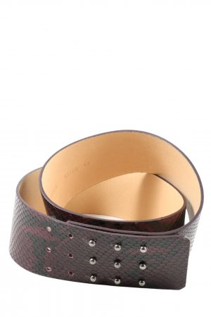 Strenesse Gabriele Strehle Leather Belt red-black animal pattern casual look
