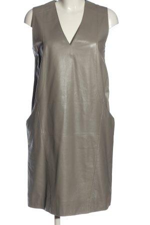 Strenesse Gabriele Strehle Vestito in pelle grigio chiaro stile casual