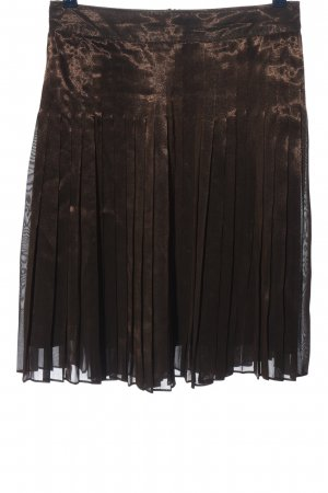 Strenesse Gabriele Strehle Pleated Skirt brown casual look