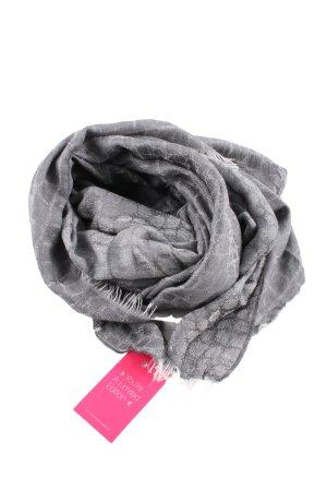 Strenesse Gabriele Strehle Foulard en soie gris clair imprimé allover