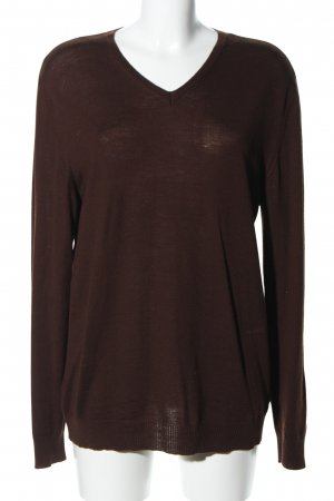 Strenesse Gabriele Strehle Strickpullover braun Casual-Look