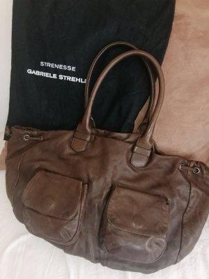 STRENESSE Gabriele Strehle Tasche, handschuhweiches Leder, braun, Top Zustand, mit original Dustbag