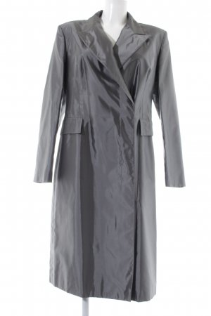 Strenesse Gabriele Strehle Trenchcoat silberfarben Business-Look