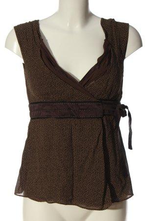 Strenesse Gabriele Strehle Kopertowa bluzka brązowy-w kolorze białej wełny