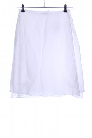 Strenesse Gabriele Strehle Falda cruzada blanco look casual