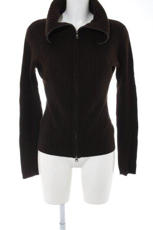 Strenesse Gabriele Strehle Chaqueta de lana marrón look casual