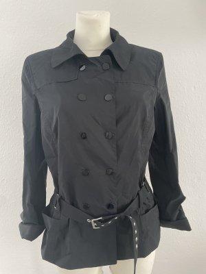 Strenesse gr 40 Trenchcoat schwarz kurze Jacke mit Knöpfen