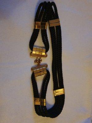 Strenesse Cinturón trenzado negro-color oro