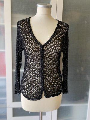 Strenesse Gabriele Strehle Szydełkowany sweter czarny