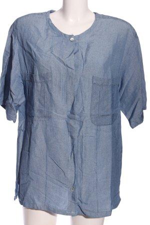 Strenesse Hemd-Bluse blau meliert Casual-Look