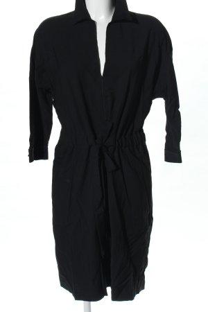 Strenesse Vestido tipo blusón negro look casual