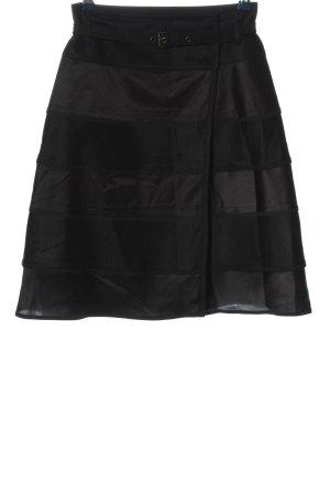 Strenesse High Waist Rock schwarz Streifenmuster Casual-Look