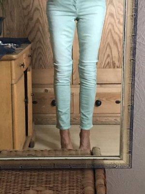 Strenesse Pantalón de tubo verde grisáceo-verde claro