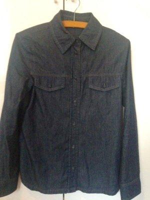Strenesse Blouse en jean bleu-bleu foncé