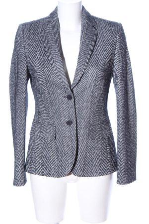 Strenesse Jerseyblazer schwarz-weiß Allover-Druck Casual-Look