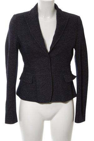 Strenesse Jersey blazer zwart gestippeld zakelijke stijl