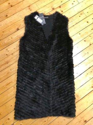 Blue Strenesse Fur vest black pelt