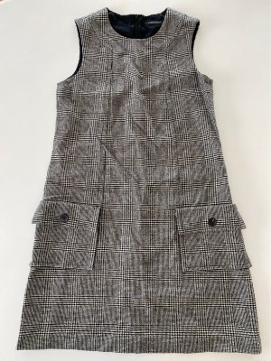 Strenesse Vestito di lana nero-bianco sporco Lana