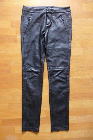 Strenesse Pantalón de cuero negro Imitación de cuero