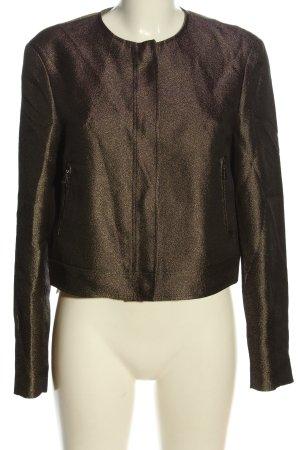 Strenesse Korte blazer bruin gestippeld zakelijke stijl