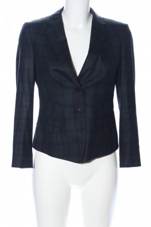 Strenesse Kurz-Blazer schwarz Allover-Druck Business-Look