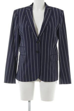 Strenesse Kurz-Blazer dunkelblau-weiß Streifenmuster Business-Look