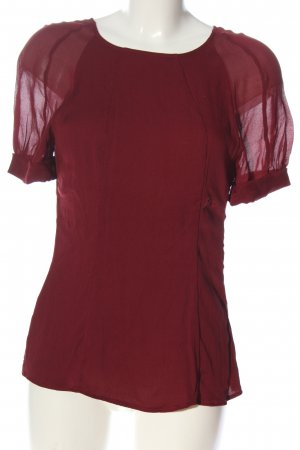 Strenesse Kurzarm-Bluse rot Casual-Look