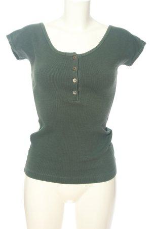 Strenesse Geribd shirt khaki casual uitstraling