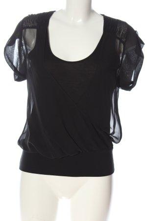 Strenesse Blusa de manga corta negro look casual