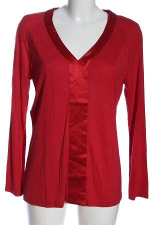Strenesse Langarm-Bluse rot Elegant