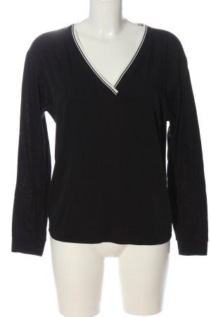 Strenesse Langarm-Bluse schwarz-weiß Casual-Look