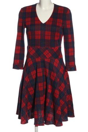 Strenesse Robe à manches longues motif à carreaux style décontracté
