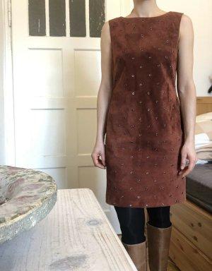 Strenesse Leder Kleid 36 S wie 34 XS mit Nieten Neuwertig