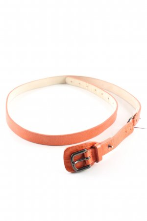 Strenesse Leather Belt light orange business style