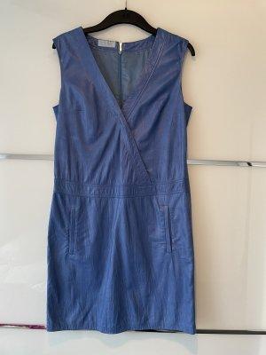Strenesse Robe en cuir bleuet