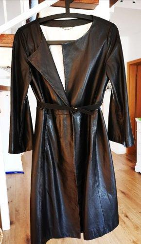 Strenesse Manteau en cuir noir