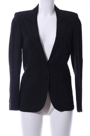 Strenesse Long-Blazer schwarz-hellgrau Streifenmuster Business-Look